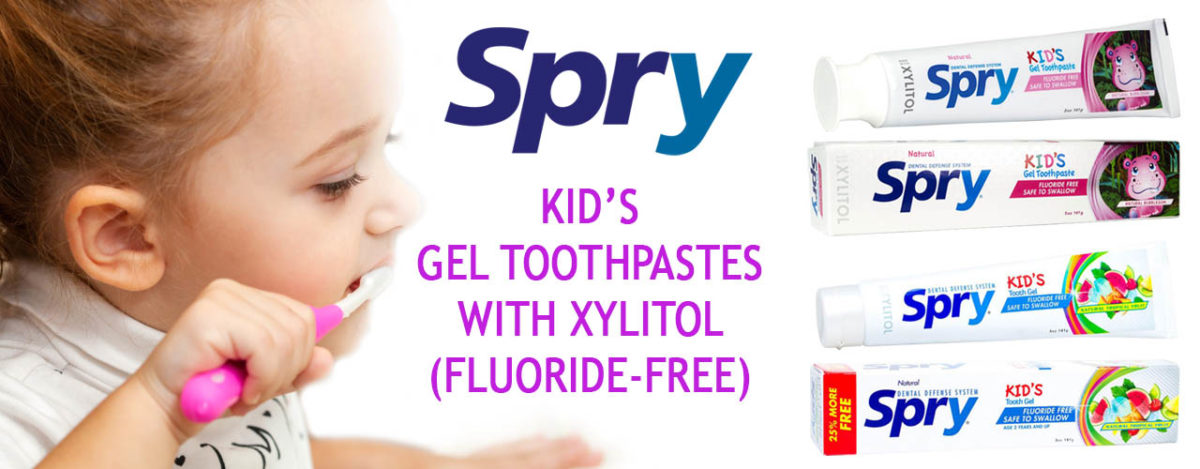 SPRY Xylitol Toothpastes